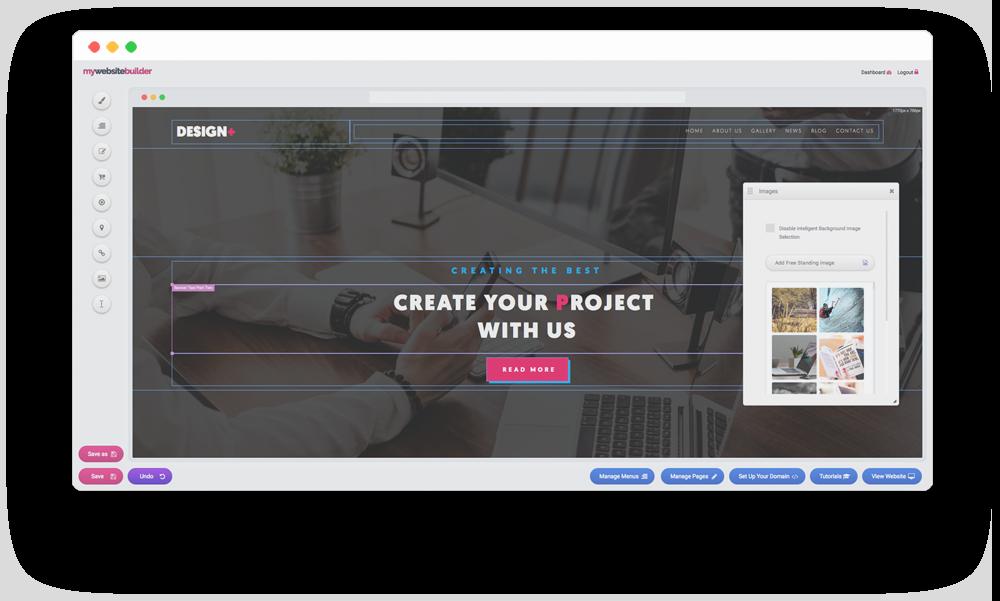 Website Builder Overlay